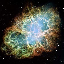 Crab Nebula from the Hubble Telescope