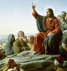 Jesus teaching the multitudes
